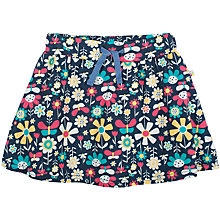 Buy Frugi Girls' Floral Print Skort, Navy/Multi Online at johnlewis.com