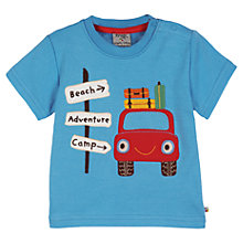 Buy Frugi Baby Ollie Car Applique T-Shirt, Blue Online at johnlewis.com