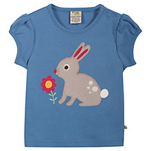 Buy Frugi Baby Evie Bunny T-Shirt, Blue Online at johnlewis.com