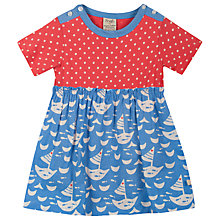 Buy Frugi Baby Boat Neck Body Dress, Blue/Red Online at johnlewis.com