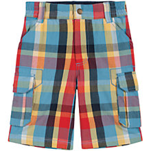 Buy Frugi Boys' Check Shorts, Multi Online at johnlewis.com