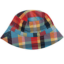 Buy Frugi Children's Dexter Check Hat, Multi Online at johnlewis.com