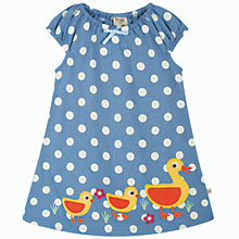 Buy Frugi Girls' Lola Spot Dress, Blue Online at johnlewis.com