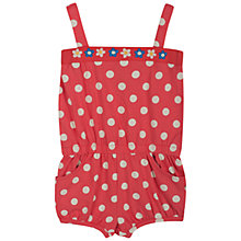 Buy Frugi Girls' Festival Playsuit, Pink/Cream Online at johnlewis.com