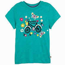 Buy Frugi Matilda Bike T-Shirt, Green Online at johnlewis.com