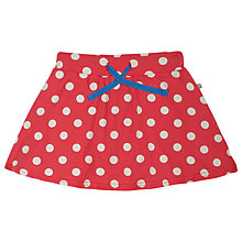 Buy Frugi Children's Spring Spot Skort, Pink/Cream Online at johnlewis.com