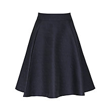 Buy Reiss Andrea Circle Skirt, Black Online at johnlewis.com