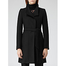 Buy Reiss Loire Slim-fit Belted Coat, Black Online at johnlewis.com