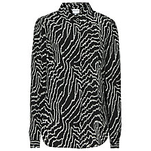 Buy Reiss Marion Graphic Print Shirt, Black Online at johnlewis.com