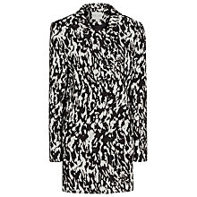 Buy Reiss Frankie Structured Jacquard Coat, Black / Cream Online at johnlewis.com