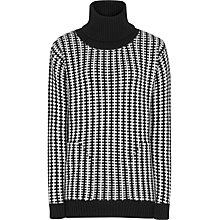 Buy Reiss Amie Textured Two-Tone Jumper, Black / White Online at johnlewis.com