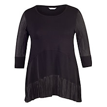 Buy Chesca Pleated Trim Jersey Tunic Dress, Black Online at johnlewis.com