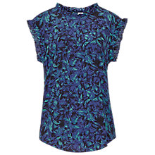 Buy Reiss Minnie Drape Top, Autumn Leaf Online at johnlewis.com