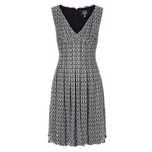 Buy Adrianna Papell Deco Crochet Lace Flare Dress, Black/Ivory Online at johnlewis.com