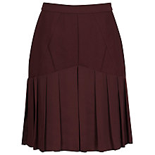 Buy Reiss Sylvia A-Line Pleated Skirt, Damson Online at johnlewis.com