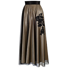 Buy Chesca Lined Mesh Skirt, Gold Online at johnlewis.com
