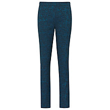 Buy Reiss Bryony Fitted Jacquard Trousers, Blue Online at johnlewis.com