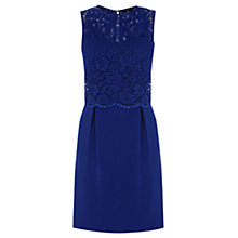 Buy Oasis Lace Bodice 2-in-1 Dress, Dark Blue Online at johnlewis.com
