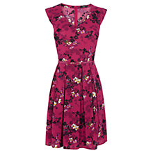 Buy Oasis Shadow Floral Dress, Pink Online at johnlewis.com