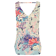 Buy Oasis V Front & Back Oriental Vest, Multi Online at johnlewis.com