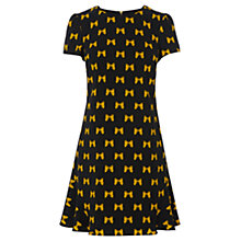Buy Oasis Bow Java Shift Dress, Navy Online at johnlewis.com