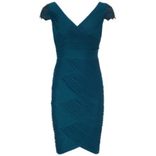 Buy Adrianna Papell Tailored Shirred Dress, Night Online at johnlewis.com