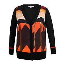 Buy Chesca Samba Printed Cardigan, Orange Online at johnlewis.com
