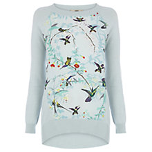 Buy Oasis Hummingbird April Jumper, Light Green Online at johnlewis.com