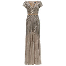 Buy Adrianna Papell Sequin Maxi Dress, Nude Online at johnlewis.com