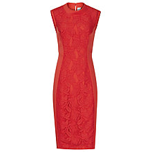 Buy Reiss Riva Floral Lace Shift Dress, Ruby Red Online at johnlewis.com