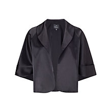 Buy Adrianna Papell Evening Cape Jacket, Black Online at johnlewis.com