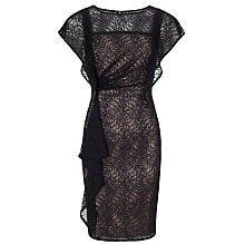 Buy Adrianna Papell Cascading Ruffle Sheath Dress, Black Online at johnlewis.com