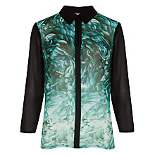 Buy Ted Baker Rosette Printed Shirt, Black Online at johnlewis.com