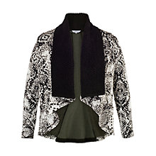 Buy Chesa Snake Jacquard Shrug, Black/Ivory Online at johnlewis.com