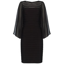 Buy Adrianna Papell Sheer Flared Sleeve Dress, Black Online at johnlewis.com