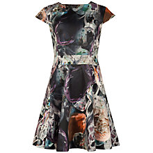 Buy Ted Baker Glistening Gem Skater Dress, Black Online at johnlewis.com