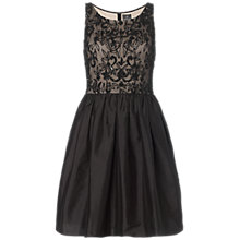 Buy Adrianna Papell Beaded Bodice Taffeta Skirt Dress, Black/Beige Online at johnlewis.com