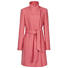 Buy Reiss Loire Sharly Tailored Coat with Waist Belt, Flamingo Online at johnlewis.com