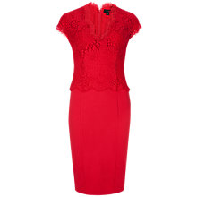 Buy Ted Baker Scallop Lace Edge Bodice Dress, Red Online at johnlewis.com