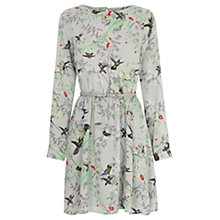 Buy Oasis Climbing Bird Shadow Dress, Multi Grey Online at johnlewis.com