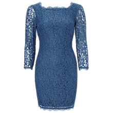 Buy Adrianna Papell Long Sleeve Lace Dress, Night Online at johnlewis.com