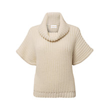 Buy East Roll Neck Knitted Jumper, Pearl Online at johnlewis.com