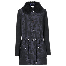 Buy Reiss Camouflage Print Hooded Parka, Navy / Black Online at johnlewis.com