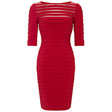 Buy Adrianna Papell Partial Tuck Dress, Scarlet Online at johnlewis.com