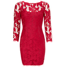 Buy Adrianna Papell Lace Cocktail Dress, Ruby Online at johnlewis.com