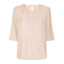 Buy Havren Pintuck Beaded Top, Dusty Pink Online at johnlewis.com