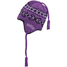 Buy Skogstad Girls' Geilane Hjelle Knitted Hat, Purple Online at johnlewis.com