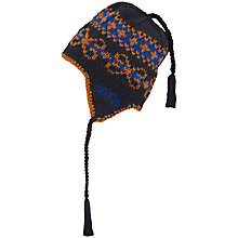 Buy Skogstad Boys' Geilane Hjelle Hat, Navy/Orange Online at johnlewis.com