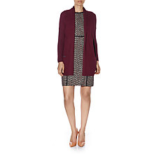 Buy Havren Argan Drape Collar Cardigan,  Dark Aubergine Online at johnlewis.com