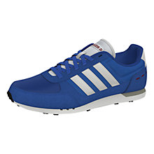 Buy Adidas City Racer Trainers, Blue Online at johnlewis.com